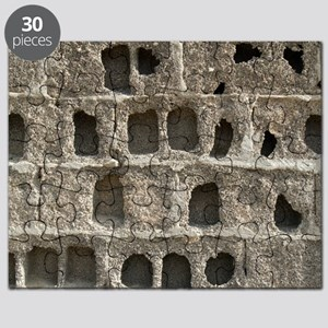 Eroded block wall Puzzle