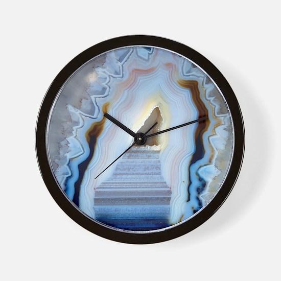 Slice of agate Wall Clock