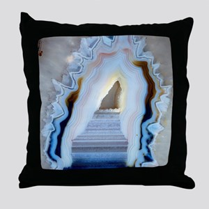 Slice of agate Throw Pillow