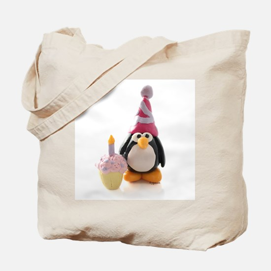 Birthday Penguin Tote Bag
