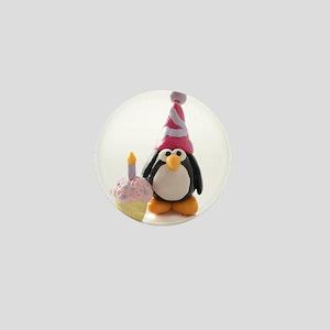 Birthday Penguin Mini Button