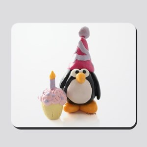 Birthday Penguin Mousepad