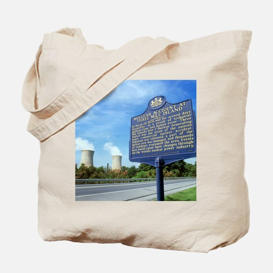 Nuclear power station accident plaque Tote Bag