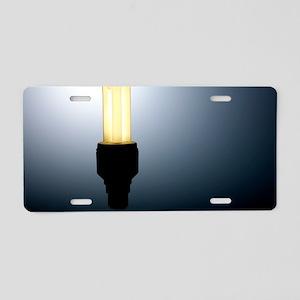 Energy-saving light bulb Aluminum License Plate