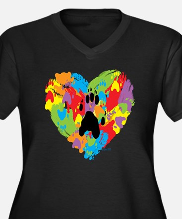 Painted by F Women's Plus Size Dark V-Neck T-Shirt