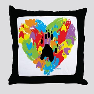 Painted by Ferrets Throw Pillow