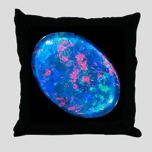Single piece of blue opal Throw Pillow