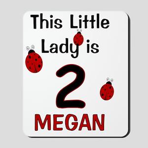 MEGAN This Little Lady is 2 (Ladybug) Mousepad