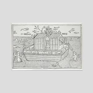 Noah's Ark, 16th-century bible Rectangle Magnet