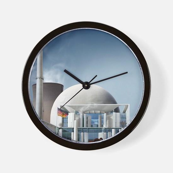 Nuclear power station, artwork Wall Clock