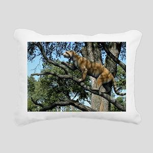 Simocyon in a tree, artw Rectangular Canvas Pillow
