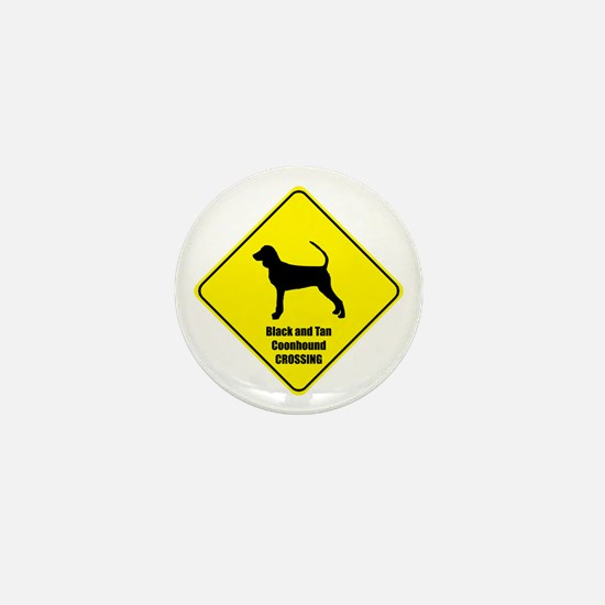 Coonhound Crossing Mini Button