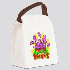 Popcorn Pigs Canvas Lunch Bag