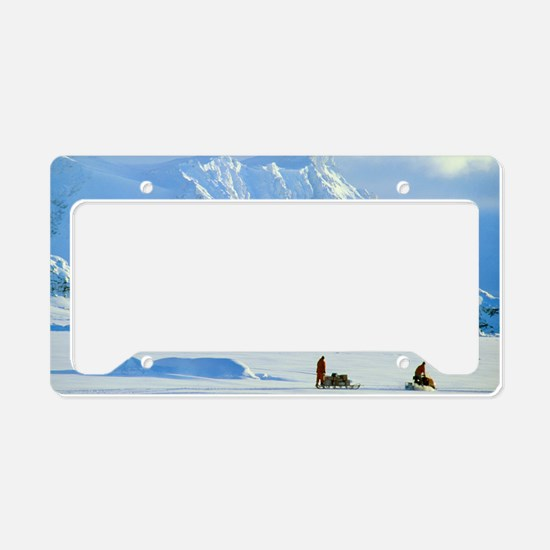 Skidoo and sledge transport,  License Plate Holder