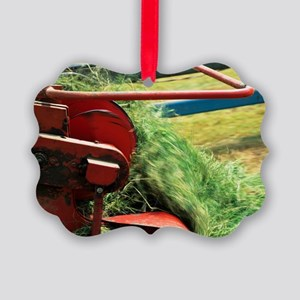 Silage making Picture Ornament