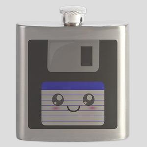Kawaii Floppy Disk (Blue) Flask