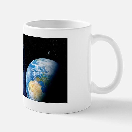 Near-Earth asteroid, artwork Mug