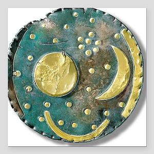 """Nebra sky disk, Bronze A Square Car Magnet 3"""" x 3"""""""
