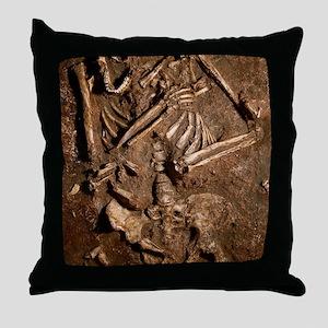 Neanderthal skeleton, Kebara Cave, Is Throw Pillow