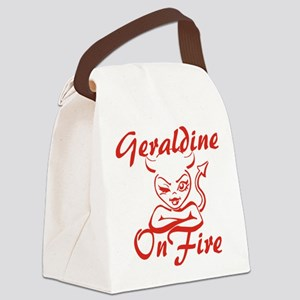 Geraldine On Fire Canvas Lunch Bag