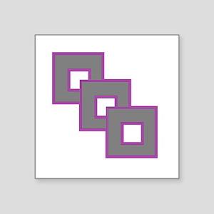 "Androgynesexual Pride Square Sticker 3"" x 3"""