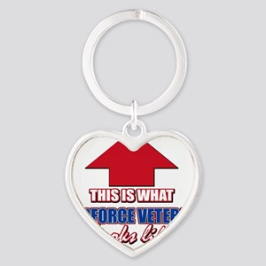 This is what Airforce Veteran looks Heart Keychain