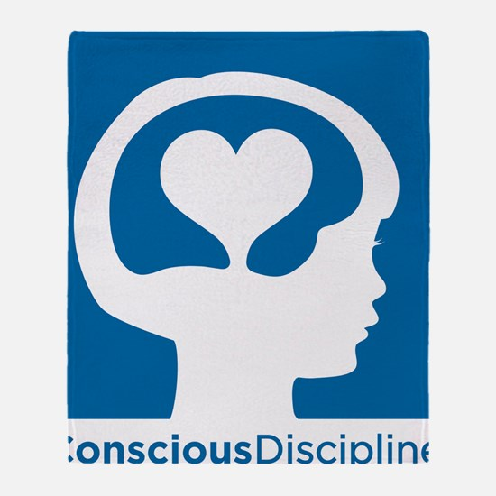 Conscious Discipline stacked logo -  Throw Blanket