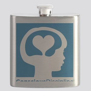 Conscious Discipline stacked logo - blue Flask