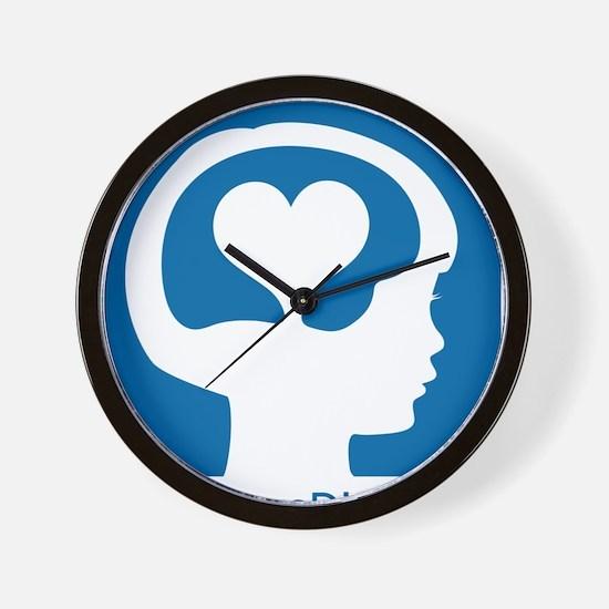Conscious Discipline stacked logo - blu Wall Clock
