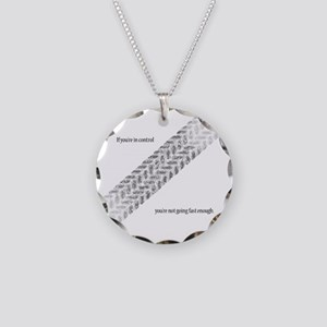 Fast Enough Necklace Circle Charm
