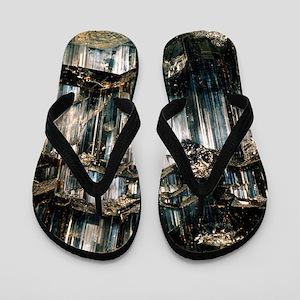 Schorl mineral Flip Flops