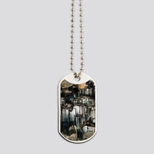 Schorl mineral Dog Tags