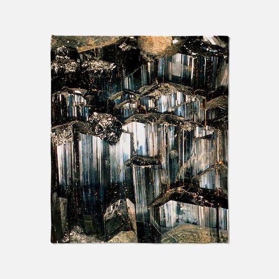 Schorl mineral Throw Blanket