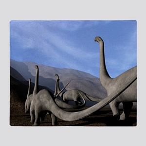 Sauropod dinosaurs Throw Blanket