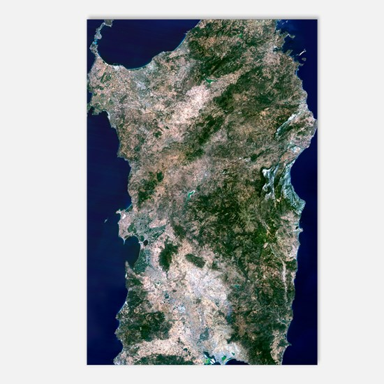 Sardinia, satellite image Postcards (Package of 8)