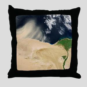 Sandstorm, satellite image Throw Pillow