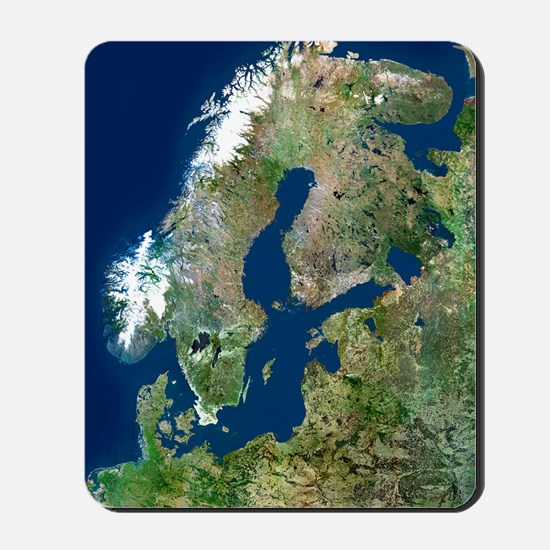 Scandinavia, satellite image Mousepad
