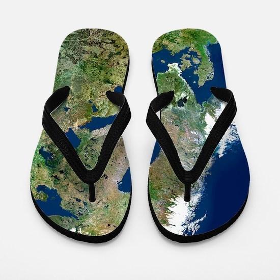 Scandinavia, satellite image Flip Flops