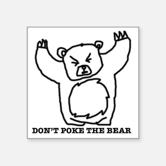 "Just Bear Square Sticker 3"" x 3"""