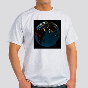 Satellite picture of the world at ni Light T-Shirt