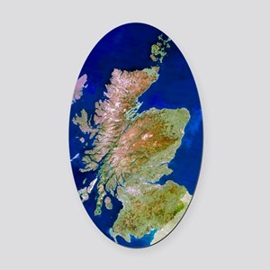 Satellite image of Scotland Oval Car Magnet