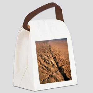 San Andreas fault, aerial view Canvas Lunch Bag