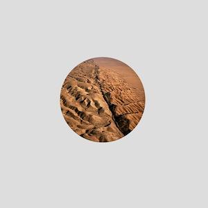 San Andreas fault, aerial view Mini Button