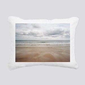 Sandy beach Rectangular Canvas Pillow