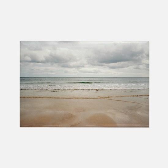 Sandy beach Rectangle Magnet