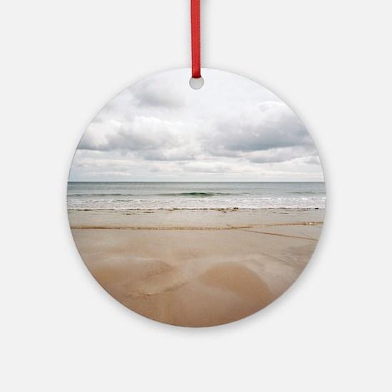 Sandy beach Round Ornament
