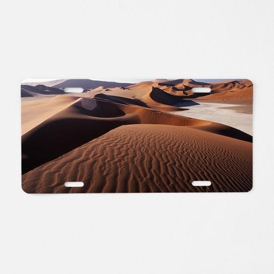 Sand dunes Aluminum License Plate