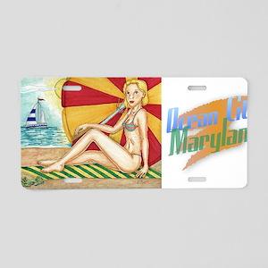 Beach Umbrella Aluminum License Plate