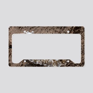 Salt stalactites License Plate Holder