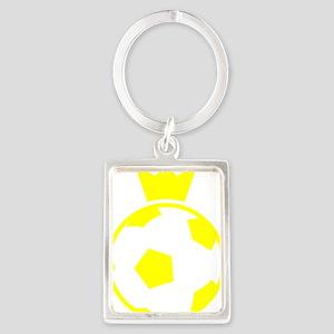 Sweden Soccer Ball Crown Portrait Keychain